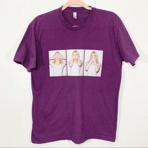 🌷American Apparel   Purple Emma Stone Graphic Tee